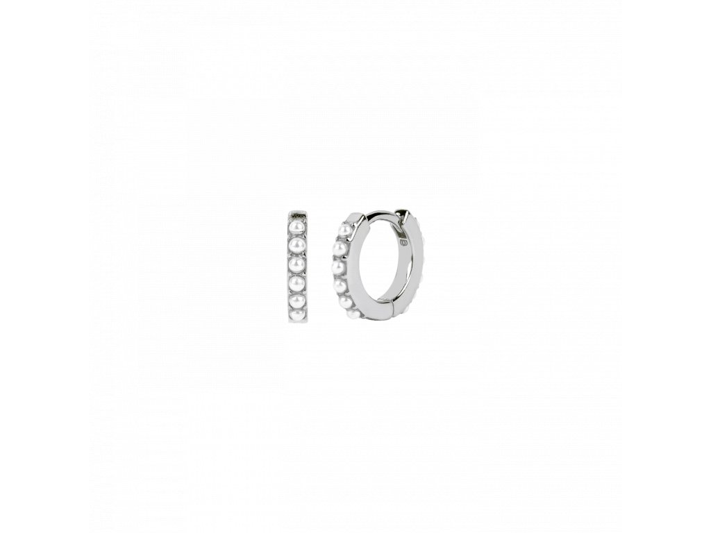 Ornamenti.cz Aleyolé, náušnice Pearl Mini Bali silver