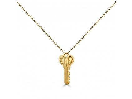 Ornamenti.cz Hey Harper, náhrdelník Lover Key gold