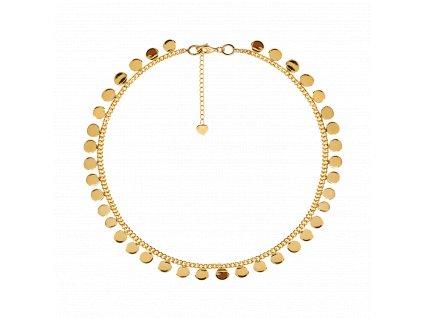 Ornamenti.cz Aleyolé, pozlacený náhrdelník Cooper gold