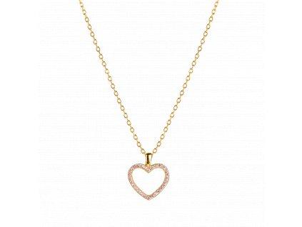 Ornamenti.cz Aleyolé, náhrdelník Pink Courtney gold