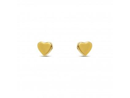 Ornamenti.cz Mosuo, náušnice Heart gold