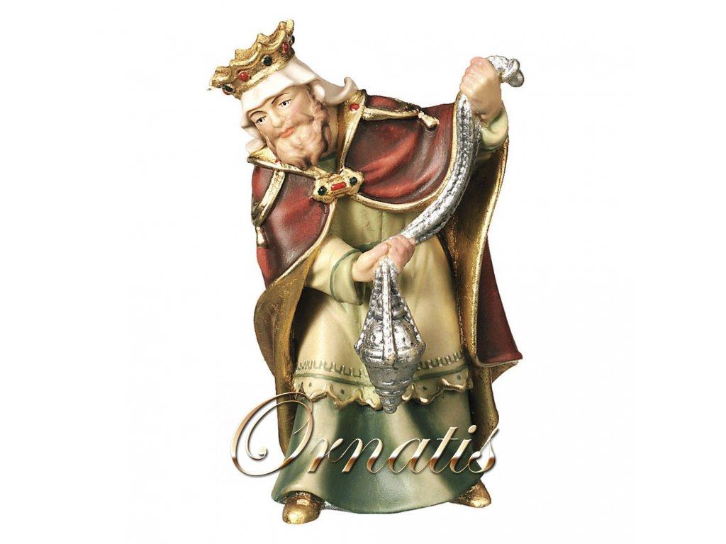 Tři králové Kašpar II (Velikost salaše Malovaná, Velikost stojících figur 22 cm)