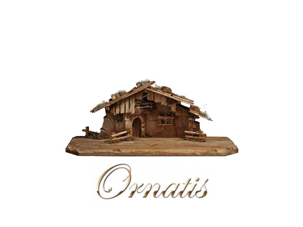 dřevěná salaš dřevěný chlév pro betlém výroba betlému