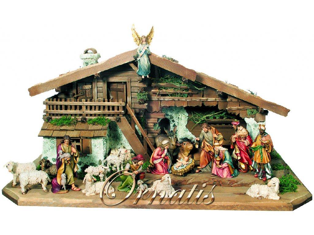 dřevěný vánoční betlém