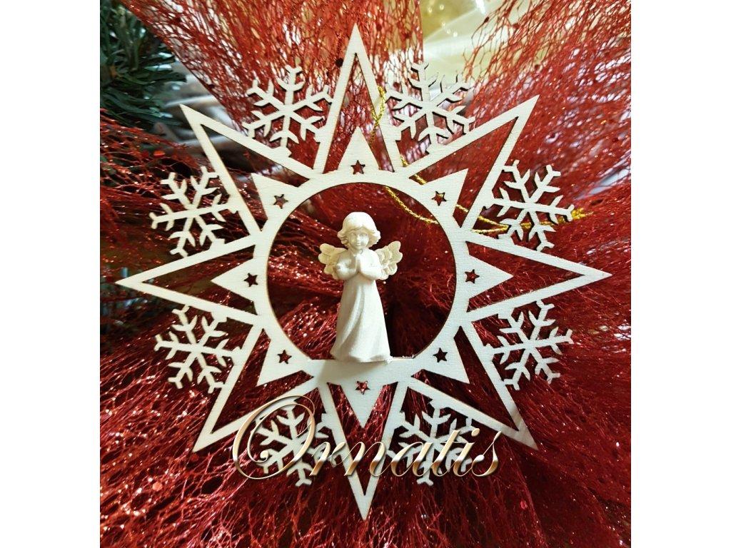 dřevené vánoční ozdoby online prodej 3D vánoční ozdoby anděl v modlitbě