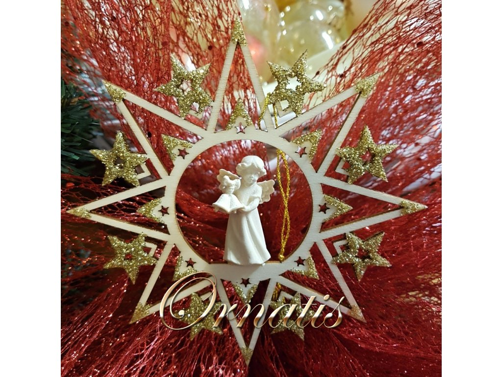 dřevěné vánoční 3d ozdoby online prodej