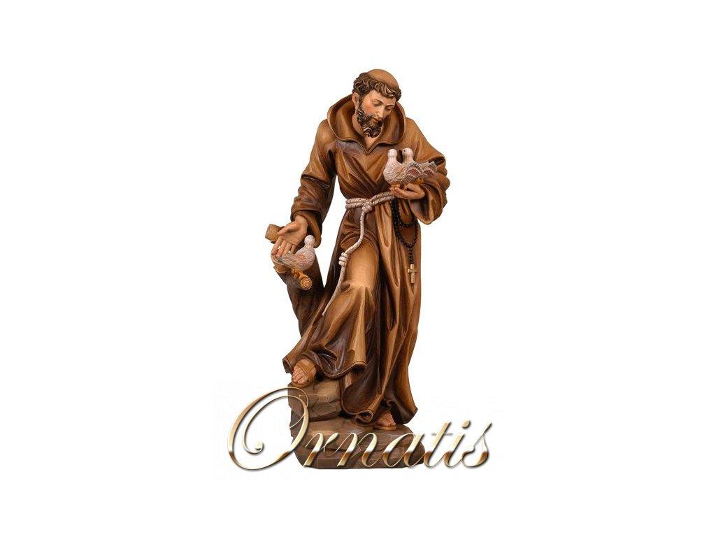 Svatý františek z Assisi, dřevěná vyřezávaná socha prodej soch svatých