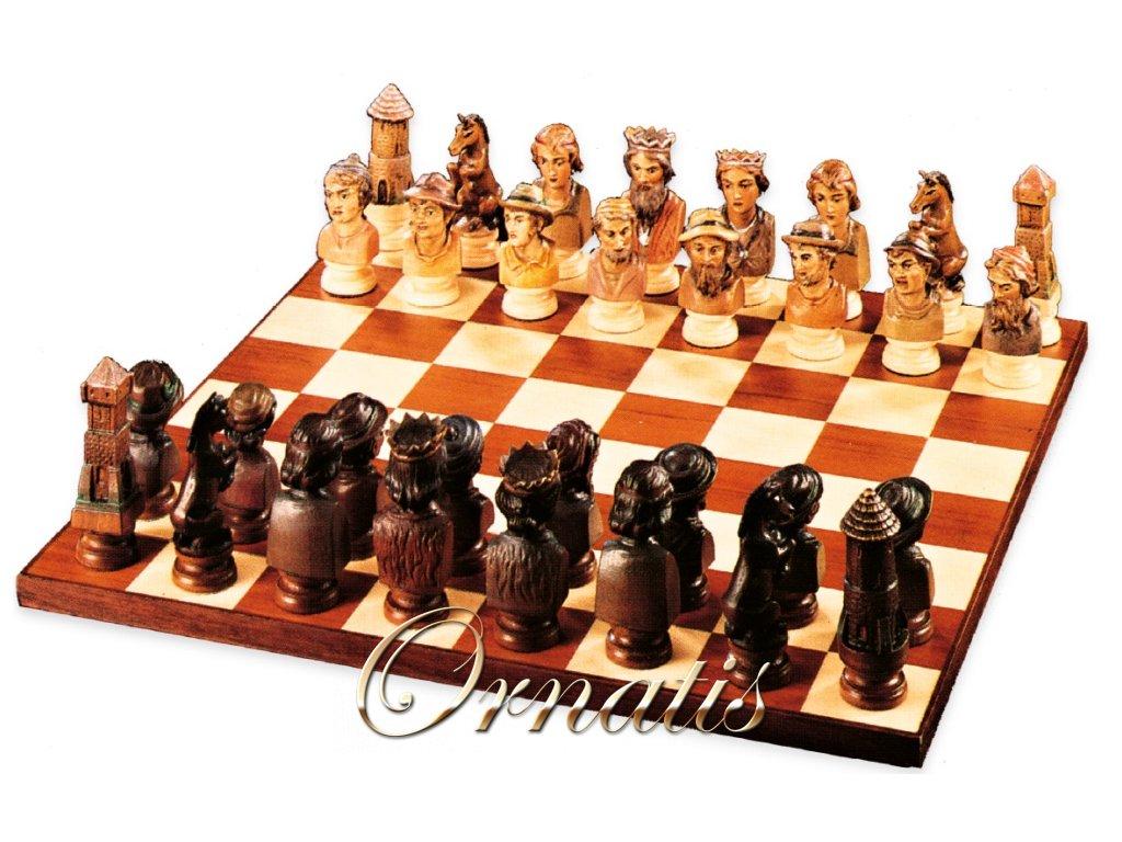 šachy šachové figury šachy dřevěné