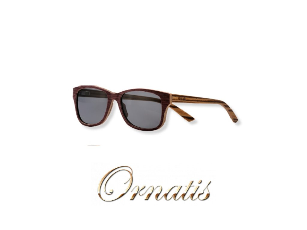 dřevěné sluneční brýle hnědé