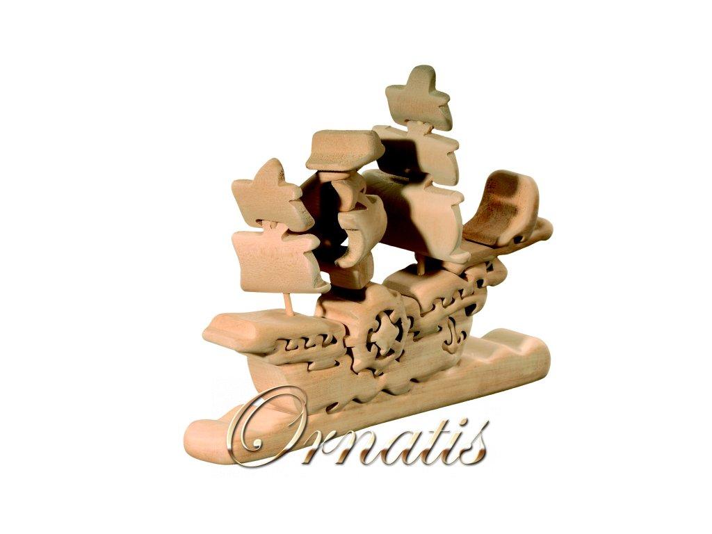 dřevěné 3D puzzle-loď