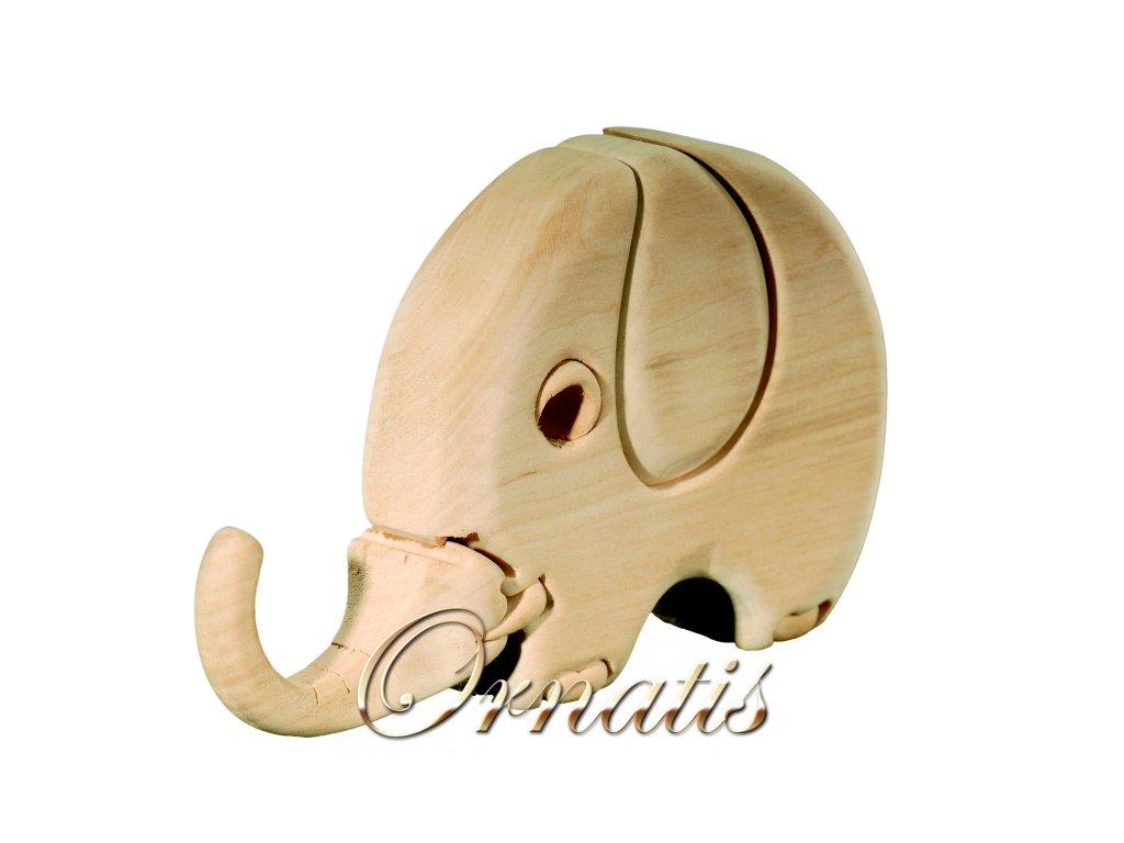 dřevěné 3D puzzle-slon-pro malé děti
