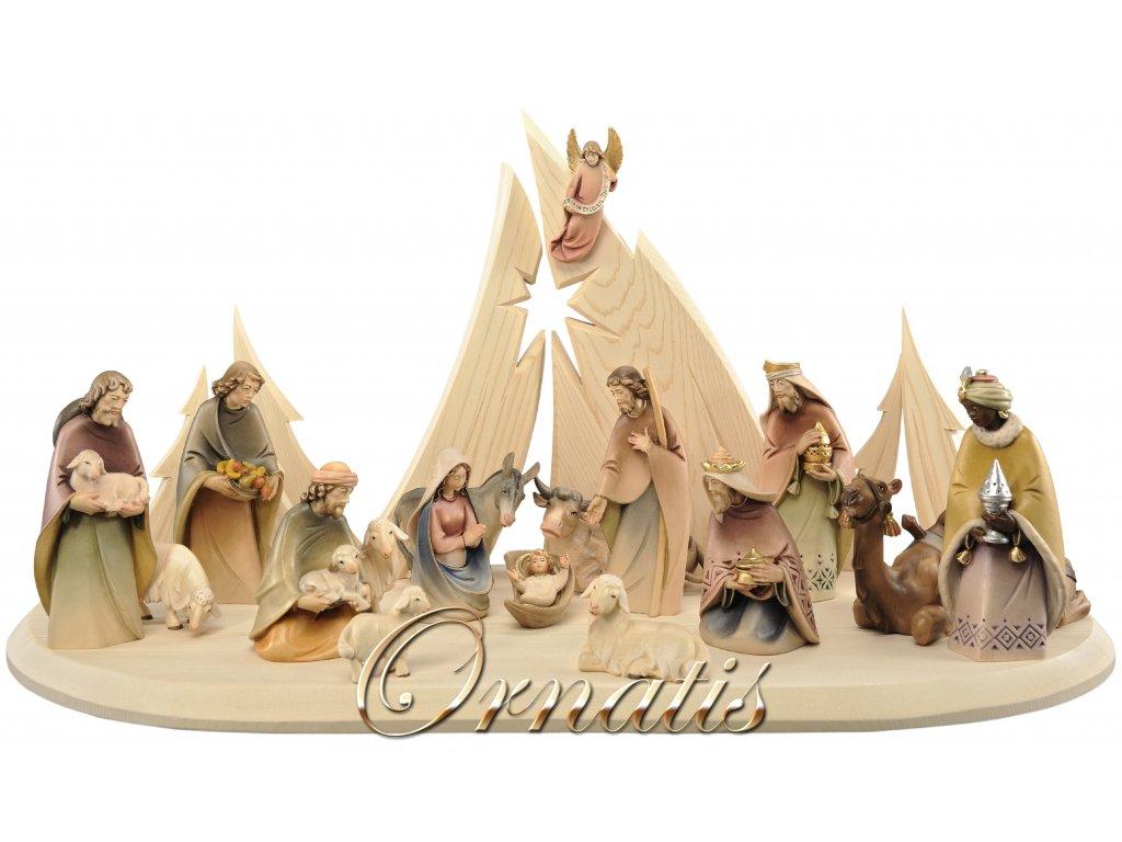 dřevěné betlémy prodej vánoční ručně vyřezávaný betlém