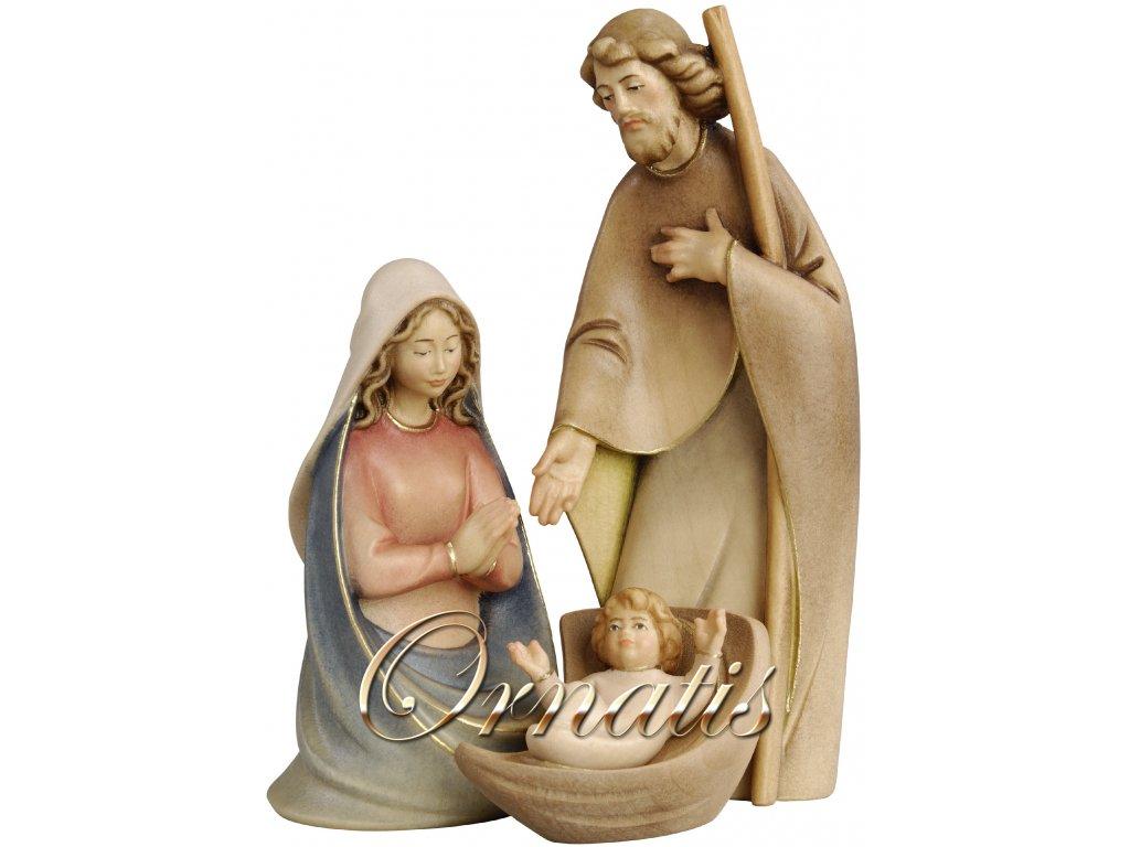 svatá rodina dřevo betlém vánoce