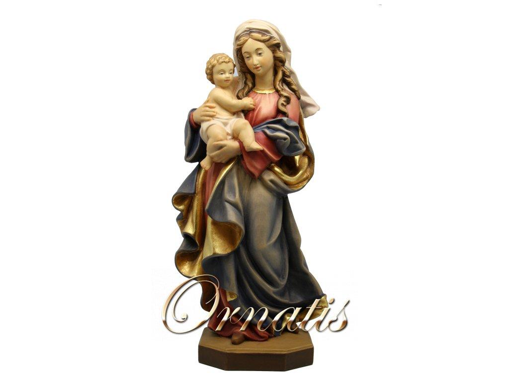 Panna marie s ježíškem dřevěná socha