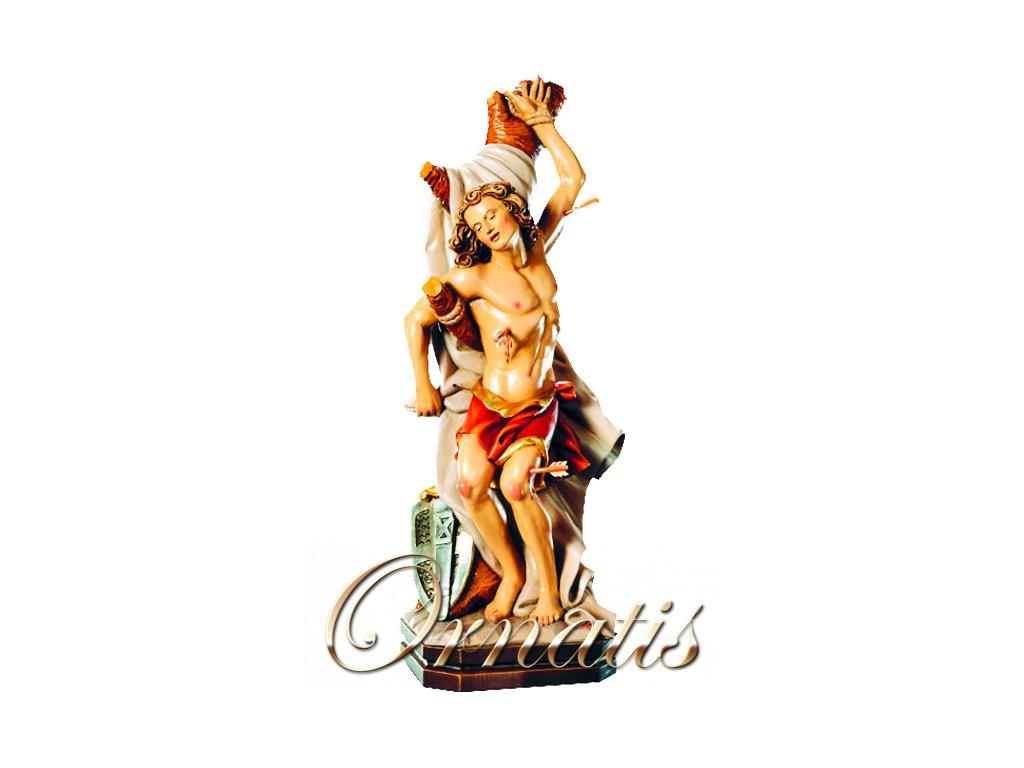 Dřevěná vyřezávaná socha Svatého Sebastiána