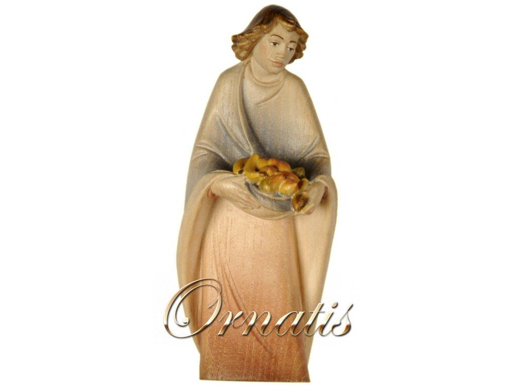 dřevěná vyřezávaná postava ženy dřevěný betlém prodej