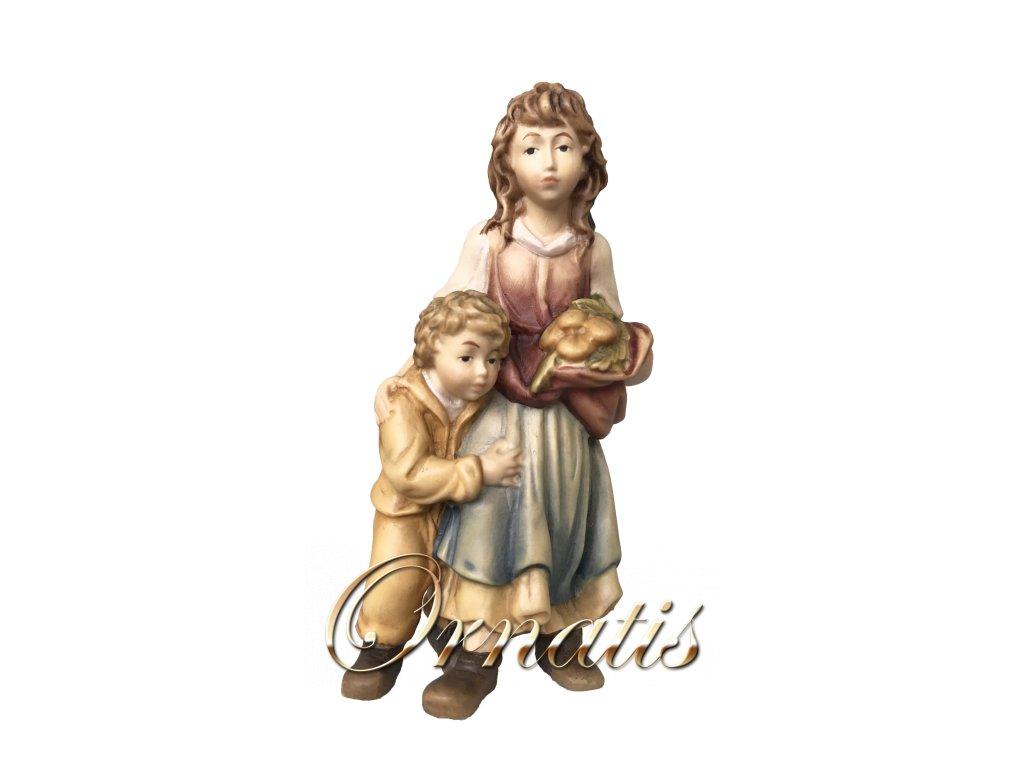žena s dítětem postavy do beltému