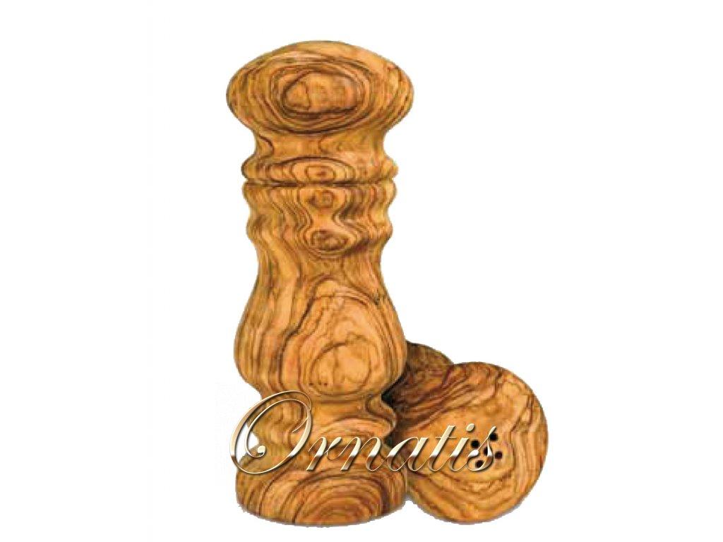 Dřevěná solnička a pepřenka z olivového dřeva