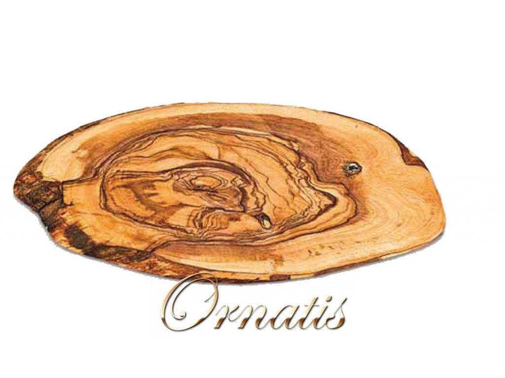 Dřevěné kulaté prkno z olivového dřeva