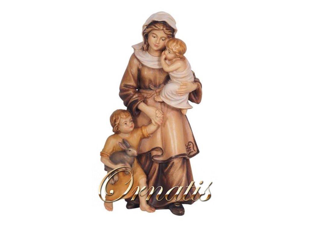 žena s dětmi