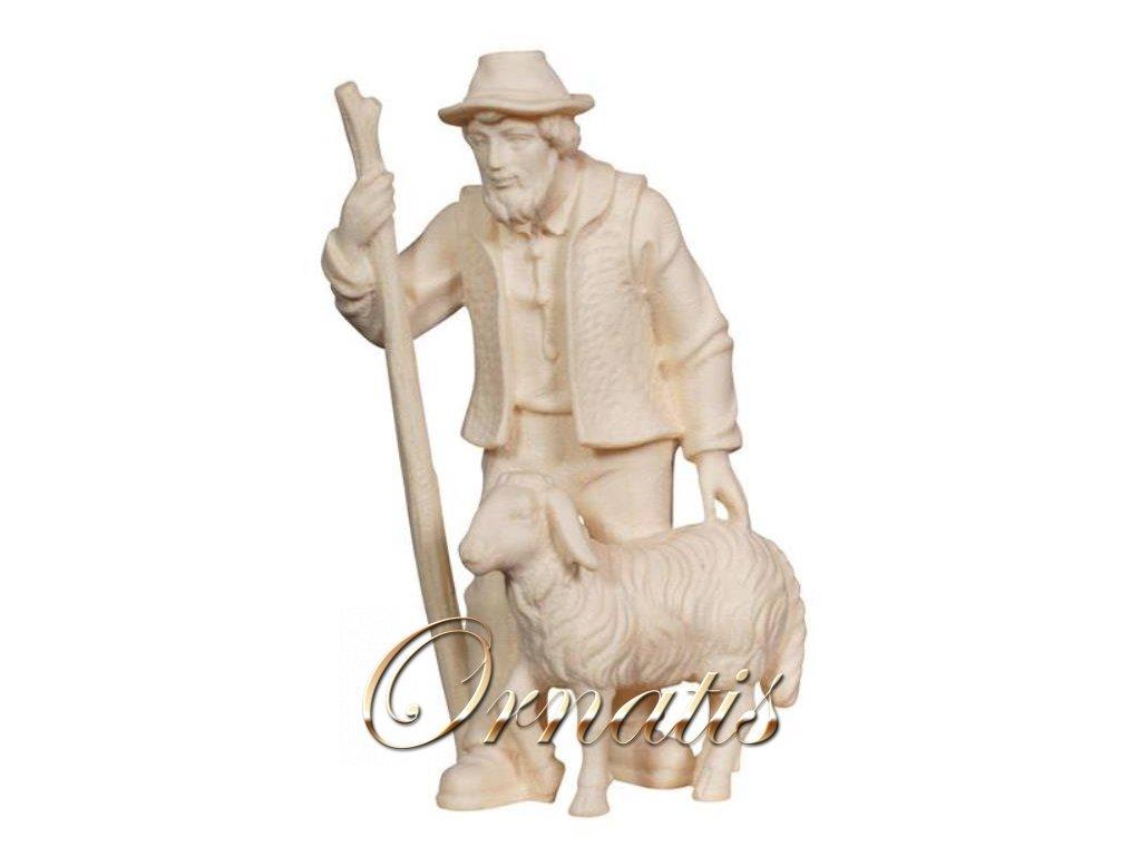 pastýř s holí a ovečkou