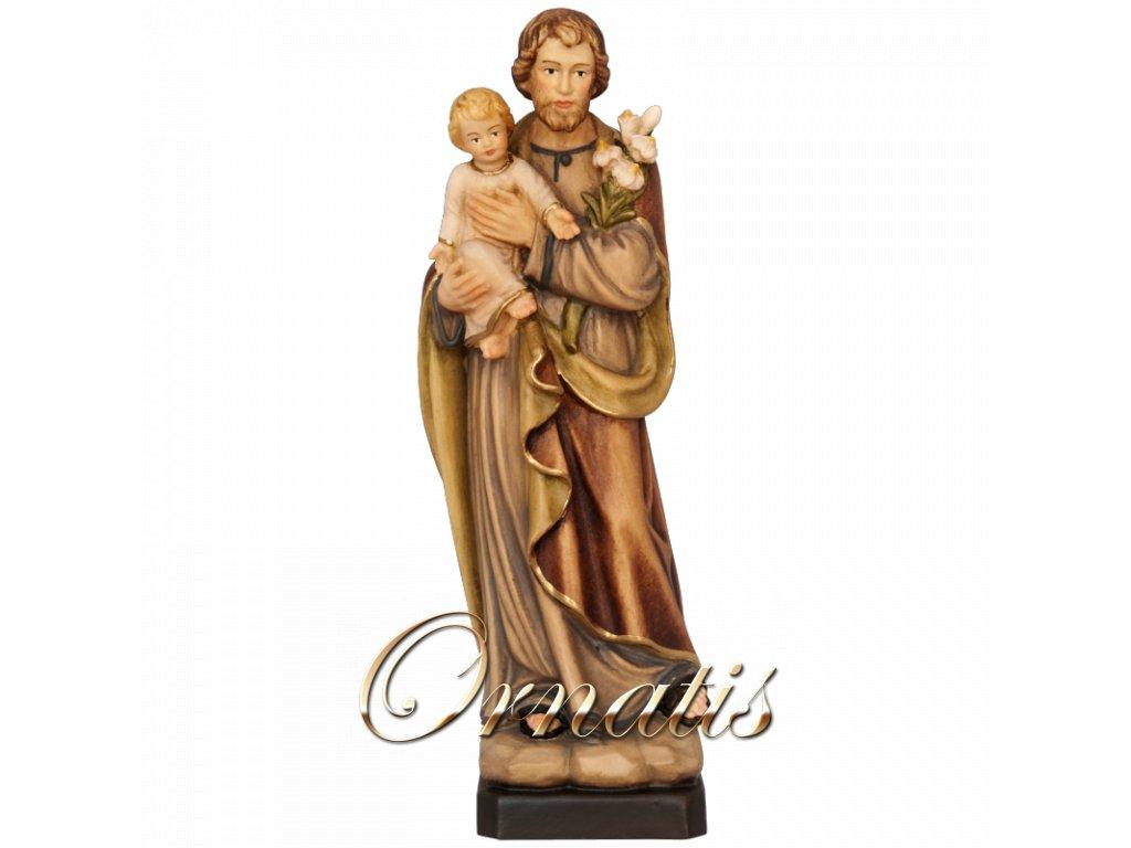 dřevěná soska drevo figurka svatý josef malovana