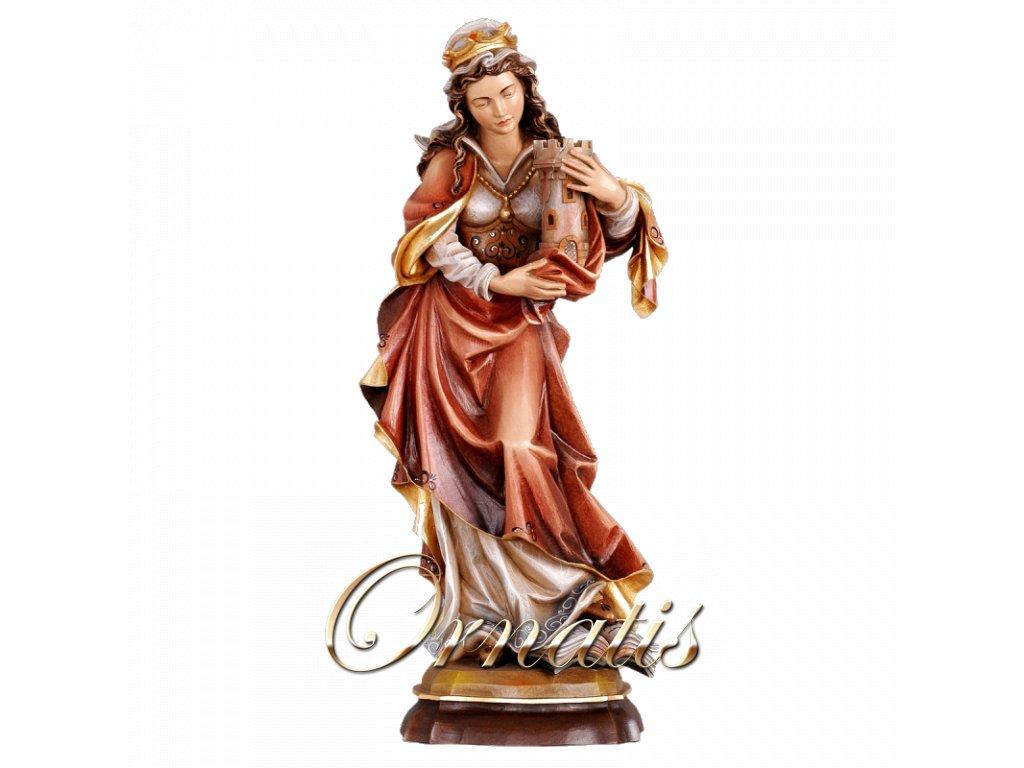 soska drevo svata barbora figurka malovana