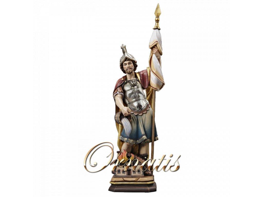 dřevěná socha svaty florian soska drevo figurka malovana