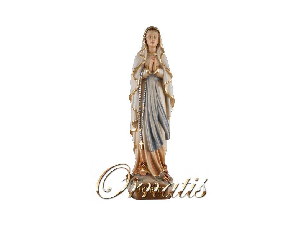 soska drevo figurka panna marie lurdska ručně vyřezávaná