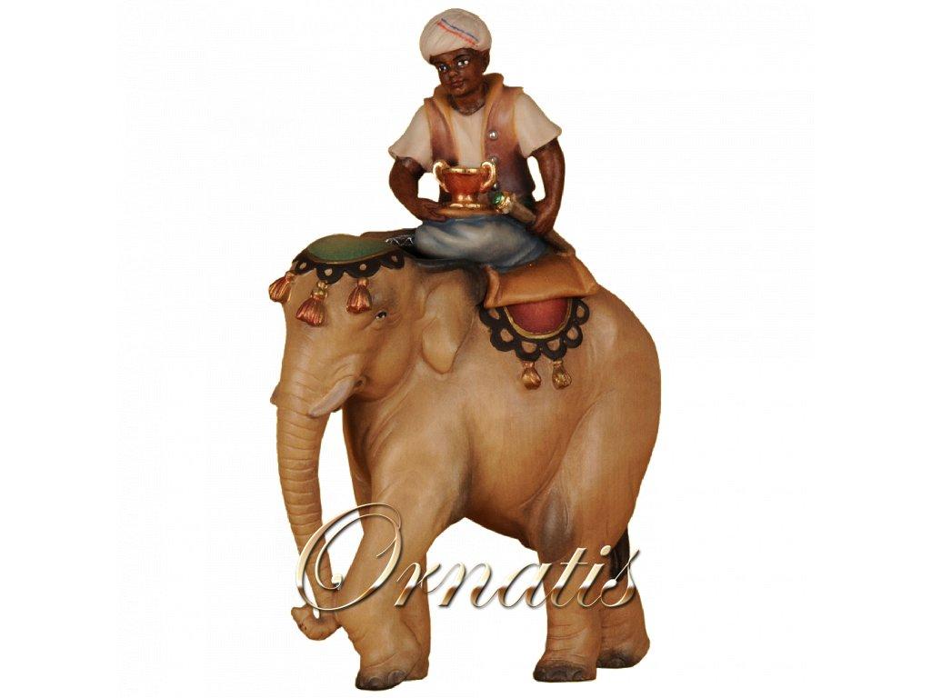 2271 slon jezdec drevo betlem