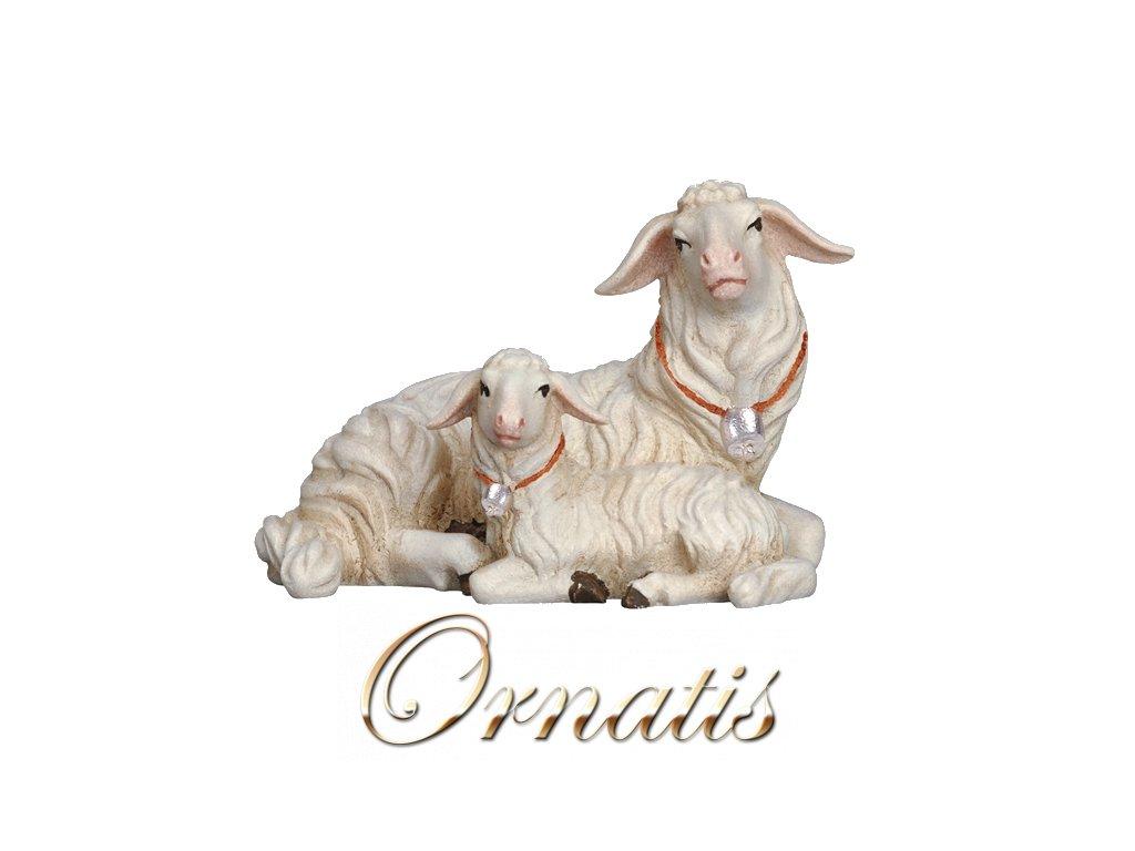 801272 color betlem soska drevo figurka ovce malovana