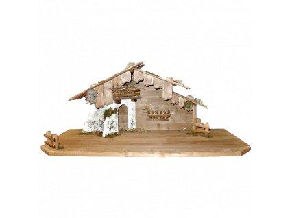 dřevěný betlém salaš chlév pro figurky do betlému