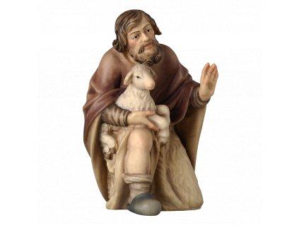 2191 poutnik pastyr betlem drevo ovce