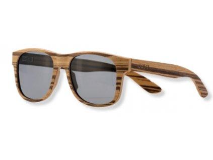 Dřevěné sluneční brýle světlé