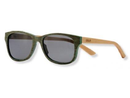 dřevěné sluneční brýle zelené