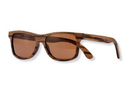 dřevěné sluneční brýle hnědá skla