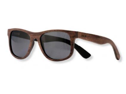 dřevěné sluneční brýle tmavé