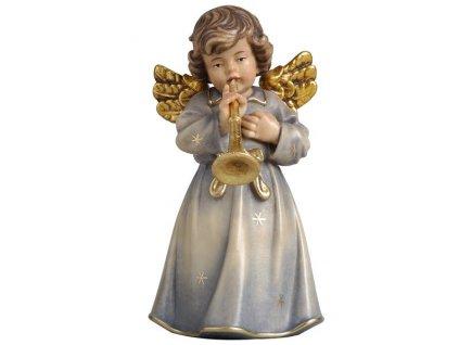 dřevěný vyřezávaný anděl s trumpetkou online prodej andělů