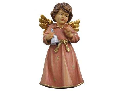 dřevěný vyřezávaný andílek se zvony prodej andělů