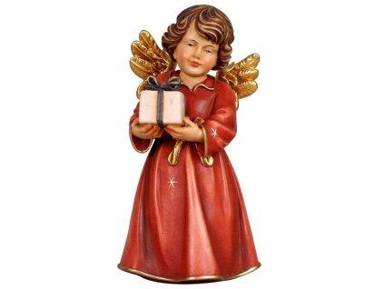 anděl s dárečkem dřevěná vyřezávaná soška anděla s dary
