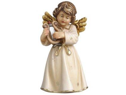 dřevěný hudební andílek s harfičkou prodej andělů