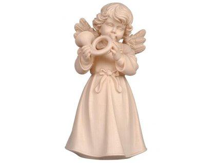 dřevěná soška anděla s lesním rohem hudební andělé online prodej