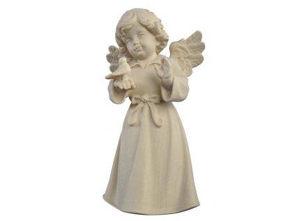 dřevěný andílek s hrdličkou vyřezávaná soška na prodej