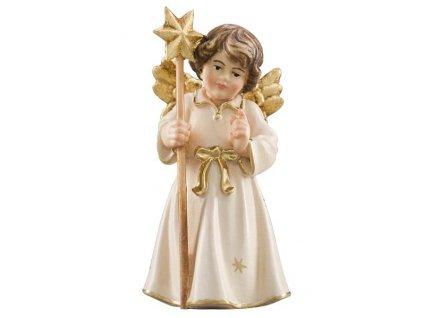 dřevěný anděl s hvězdou vánoční andělé dřevěné sochy