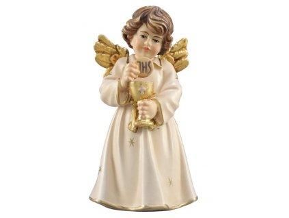 anděl svatého přijímání dřevěná vyřezávaná soška anděla