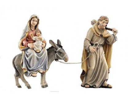 josef s marií a narozeným ježíškem utíkají do egypta prodej dřevěných betlémů
