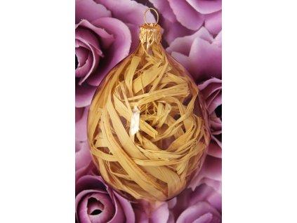 Skleněná vánoční ozdoba na vánoční stromeček