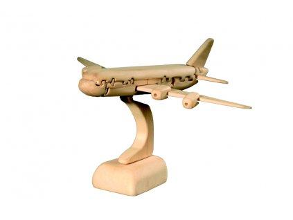 dřevěné 3D puzzle-letadlo