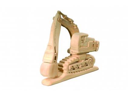 dřevěné 3D puzzle-bagr