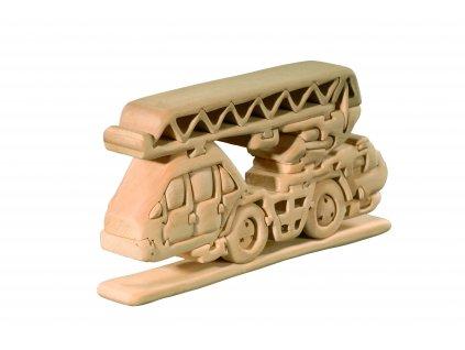dřevěné 3D puzzle-auto se žebříkem